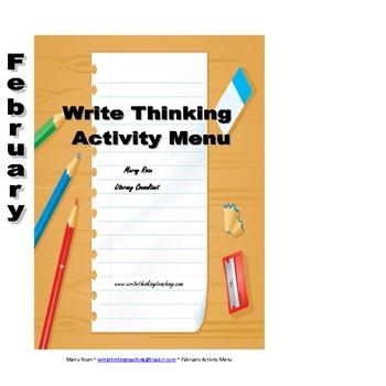 February Writing Menu