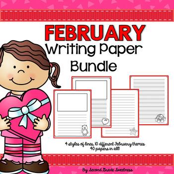 February Writing Paper Bundle