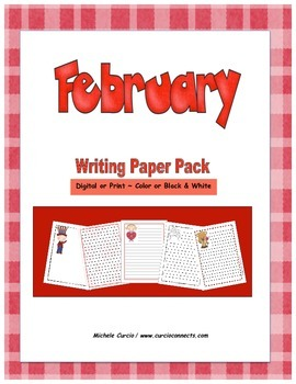 February Writing Paper Pack
