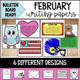 February Writing Papers and Bulletin Board Ready