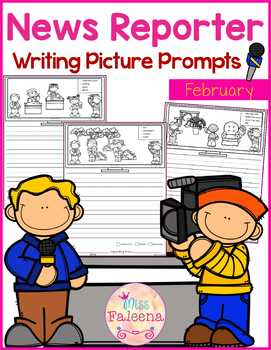 February Writing Picture Prompts - News Reporter