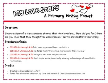 February Writing Prompt - My Love Story