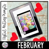 February Writing Prompt Paper and Digital Writing Prompts