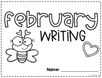February Writing Prompt and Calendar