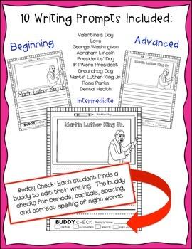 February Writing Prompts