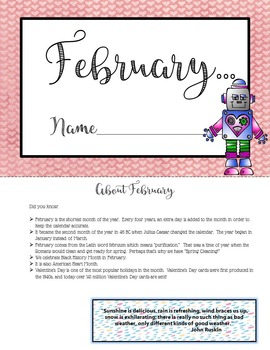 February Writing Prompts - Print and Go