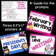 February Writing Prompts and Posters *30 prompts!*
