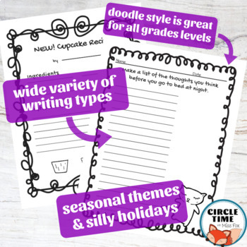 NO PREP Journaling February Writing Prompts Fun Question of the Day