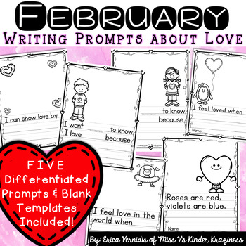 February Writing Prompts About Love