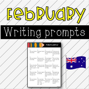February Writing Prompts - Australian Calendar