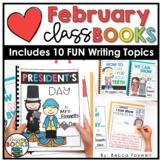 February Writing Prompts & Class Book Covers