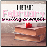 February Photo Writing Prompt Task Cards