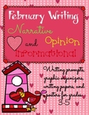 February Writing Prompts, Graphic Organizers, Papers, and Posters