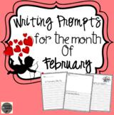 February Writing Prompts Kindergarten - 2nd Grade