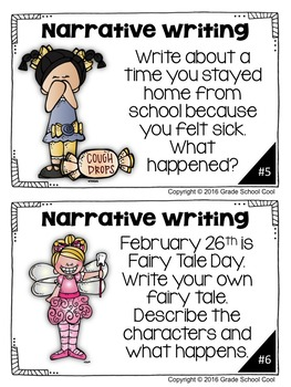 February Writing Prompts: Opinion, Informative, Narrative: 3-5