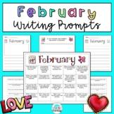 February Writing Prompts: Printable and Digital Google Slides