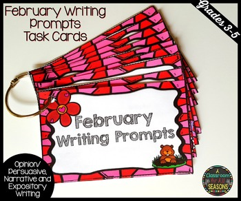 February Writing Prompts: Task Cards