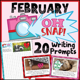 February Writing Prompts - Photo Writing Prompts - Google Classroom Activities