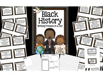 February Writing Prompts: Valentine's & President's Day, Black History Month