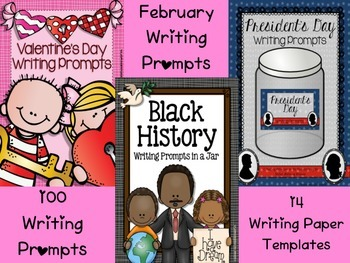 February Writing Prompts: Valentine's & President's Day, B