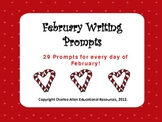 February Writing Prompts- for Intermediate Grades!