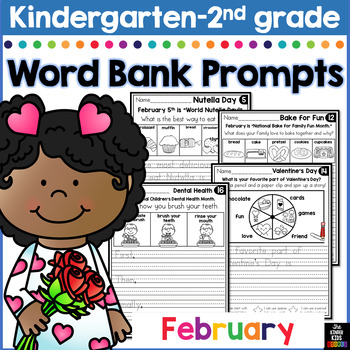 February Writing Prompts for Kindergarten to Second Grade