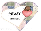 February Writing Station Headers and Vocabulary Cards