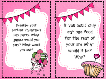 February Writing Task Cards