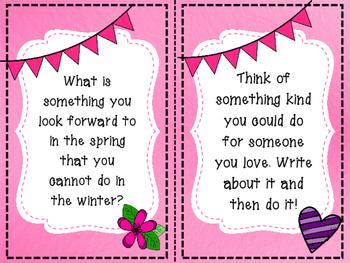 February Writing Task Cards