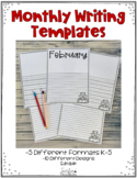 February Writing Templates Editable