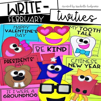 February Writing Prompts | Valentine's Day, Groundhog's Day, Presidents Day