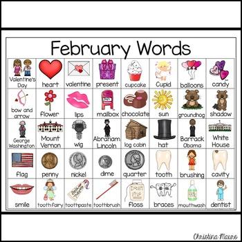 February - Writing Words