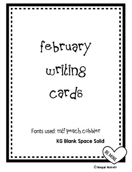 February Writing Words