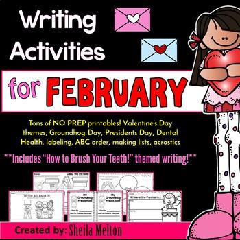 February Writing Center NO PREP Printables