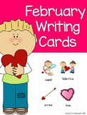 February Writing Topic Cards, Word Work, Story Starter Vocabulary Cards