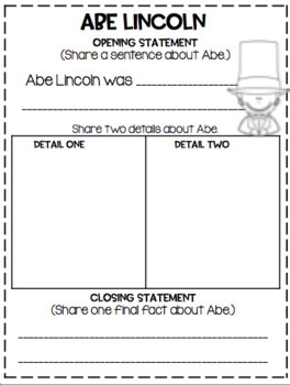 February Writing ... Simple Crafts, Graphic Organizer and Activities!