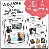 February and Black History + President's Day Digital Templates and Activities!