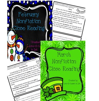 February and March Close Reading