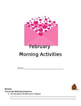 February and March Morning Activities
