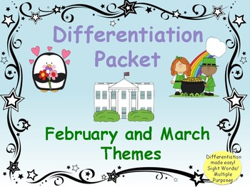 February and March Themed Game Packet