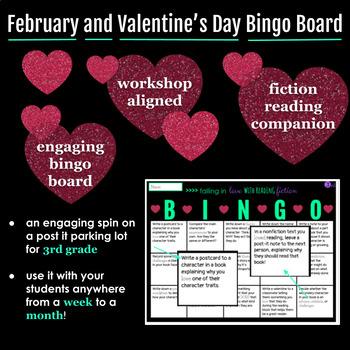 Fiction February and Valentine's Day READING BINGO