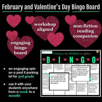 Non-Fiction February and Valentine's Day READING BINGO