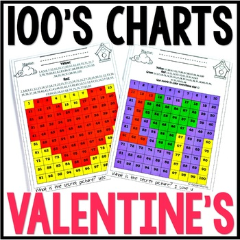 Valentine's Day Craft with 100's Charts