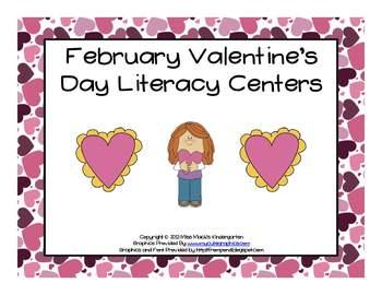 February and Valentine's Day Literacy Centers (3 Centers)