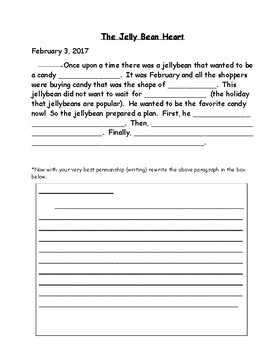 February fill in Journals Quick Writes