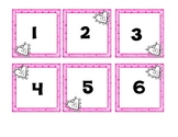 February number cards - calendar,counting,number ID