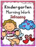 February or Valentine's Day Morning Work or Homework for Kindergarten