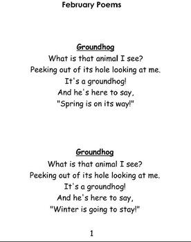 Groundhog poems