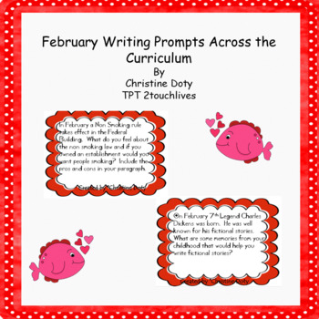 February writing prompts FREE