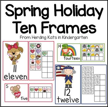 February/March Ten Frames Unit (Valentine's, President's & St. Patrick's Day)